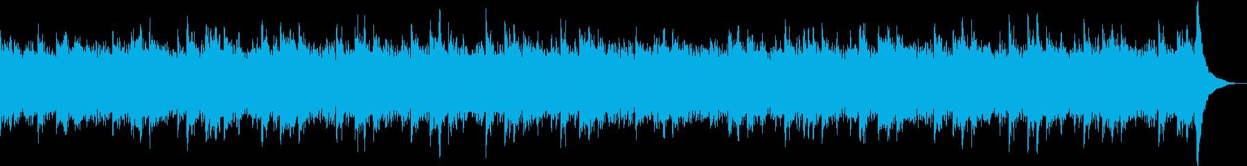 ピアノとストリングスの綺麗な曲の再生済みの波形