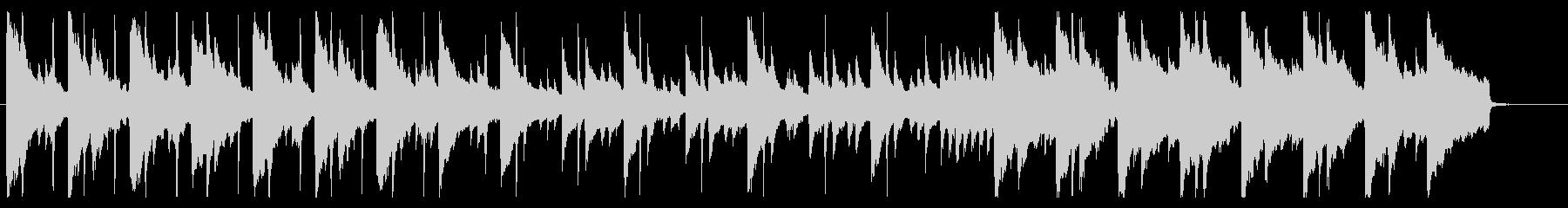 ピアノ主体のほのぼの料理番組的BGMの未再生の波形