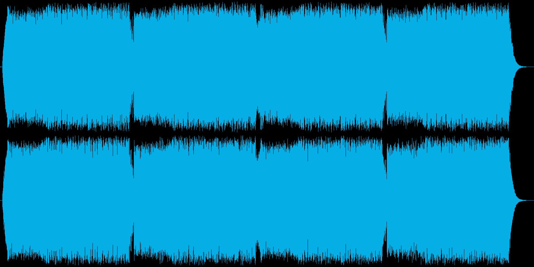 緊迫感のある電子的な曲の再生済みの波形