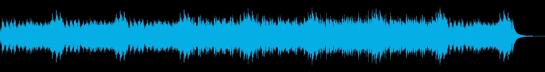しっとりゆったり爽やかで淡々とした曲の再生済みの波形
