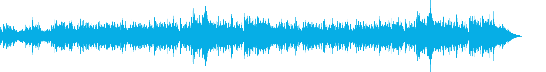 星空をイメージしたピアノの癒やしBGMの再生済みの波形