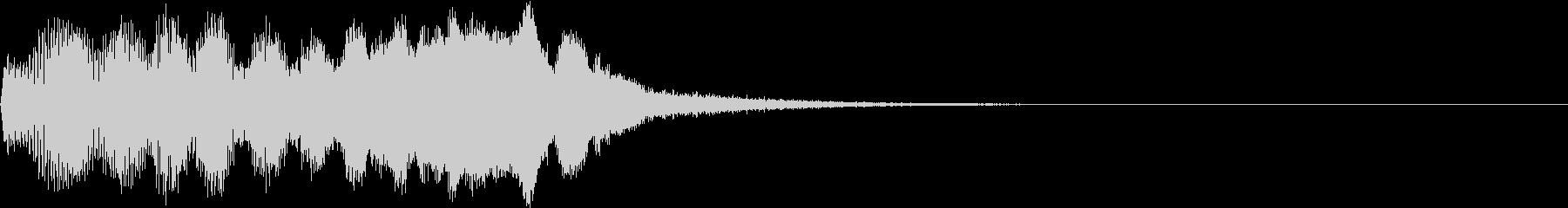 SE ポワーン クイズ出題前 上昇音 3の未再生の波形