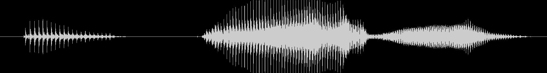 当たり!(アタリ)の未再生の波形