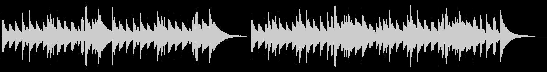 寂しげなメロディーを奏でるオルゴールの未再生の波形
