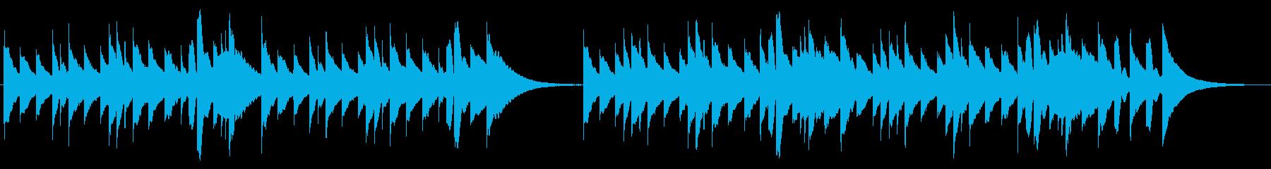 寂しげなメロディーを奏でるオルゴールの再生済みの波形