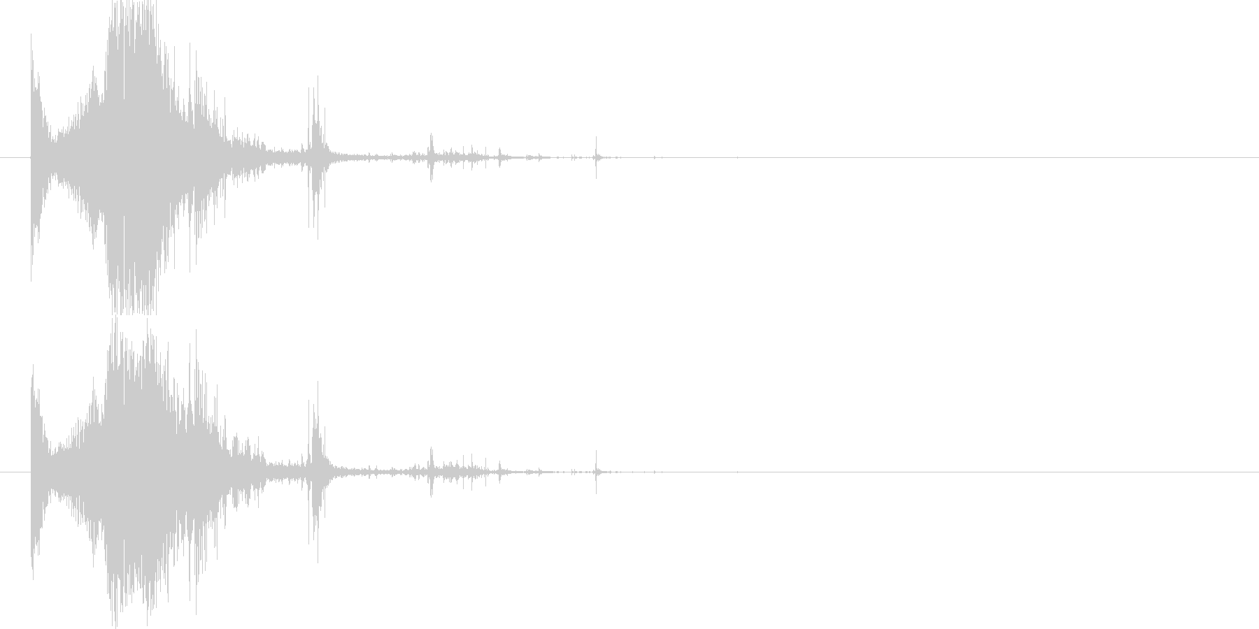 斬撃:軽めの斬撃 出血多量の未再生の波形