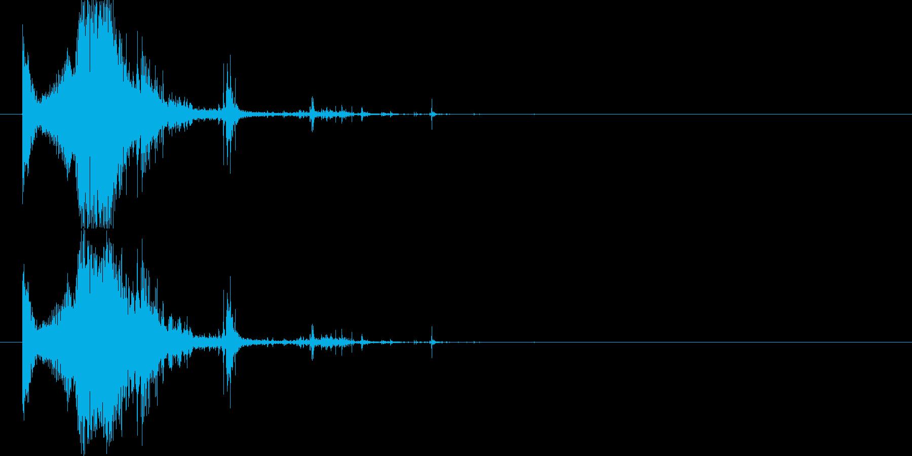 斬撃:軽めの斬撃 出血多量の再生済みの波形