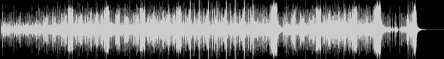 ノリの良いブラスバンド曲の未再生の波形