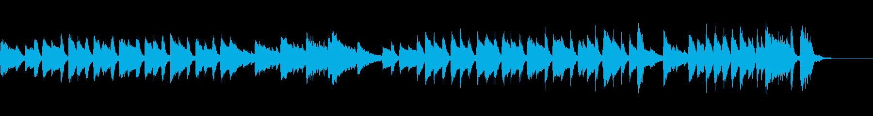 あっけない幕切れのピアノワルツ/生演奏の再生済みの波形