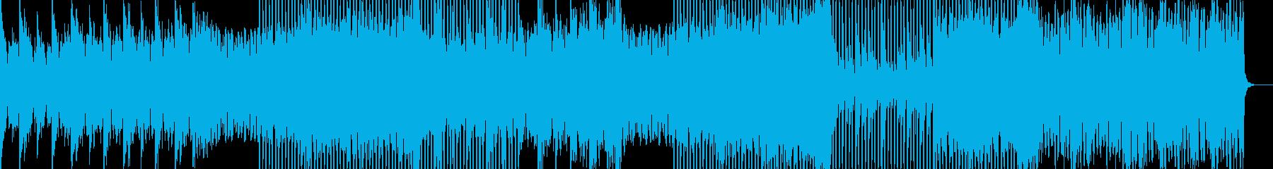 お洒落系のEDMの再生済みの波形