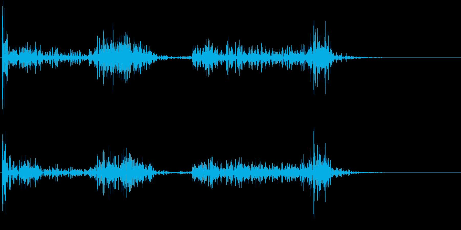 【生録音】ペンで書く音 机 8の再生済みの波形