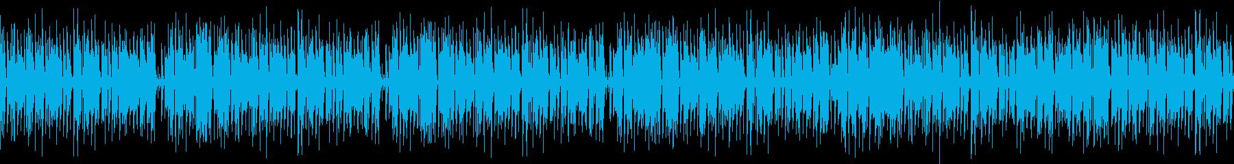 夏の労働イメージのファンクの再生済みの波形