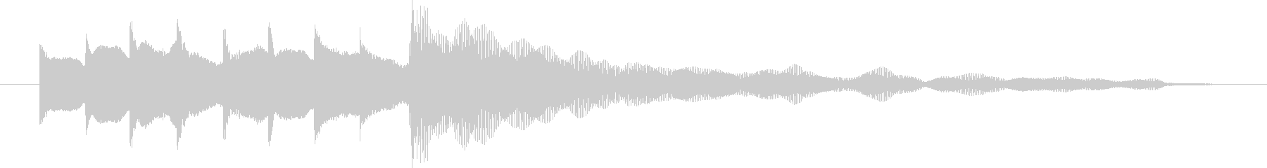 駅の発車メロ風、ベル系のアイキャッチの未再生の波形