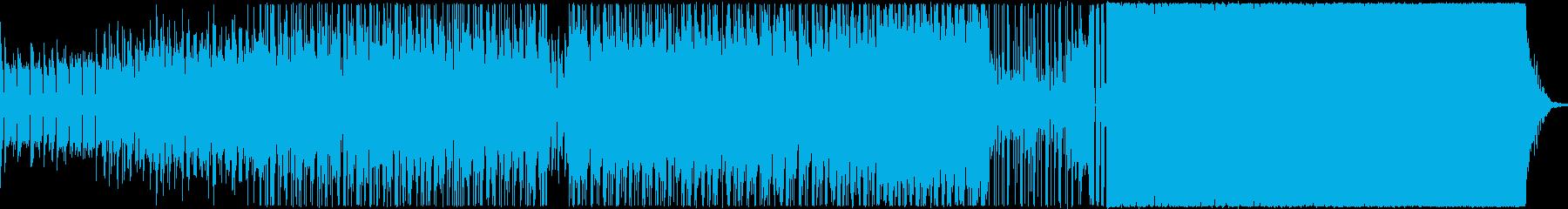 ハードヒットドラム、エレキギター、...の再生済みの波形