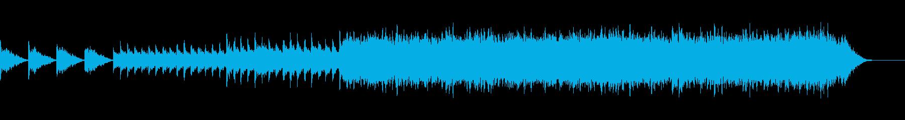 暗く冷たい雰囲気のホラーBGMの再生済みの波形