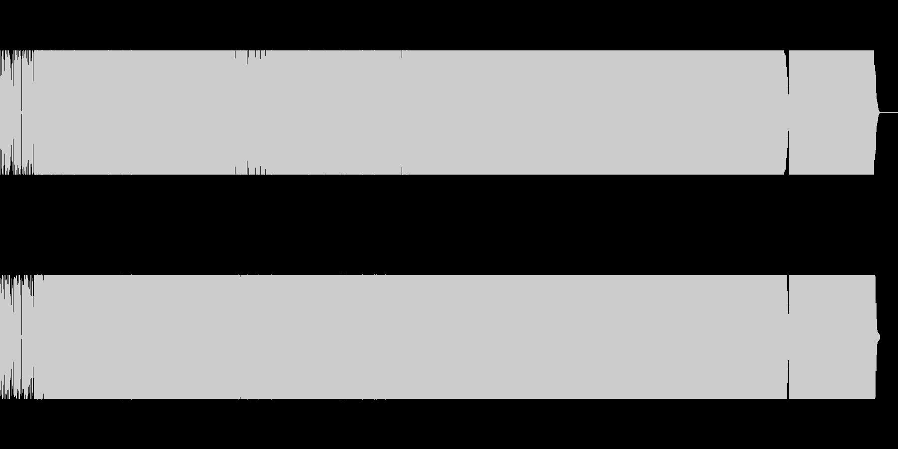 bpm125の重厚感あるテクノの未再生の波形