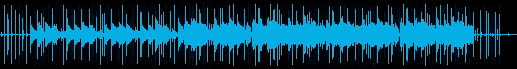 メロウでおしゃれなローファイヒップホップの再生済みの波形
