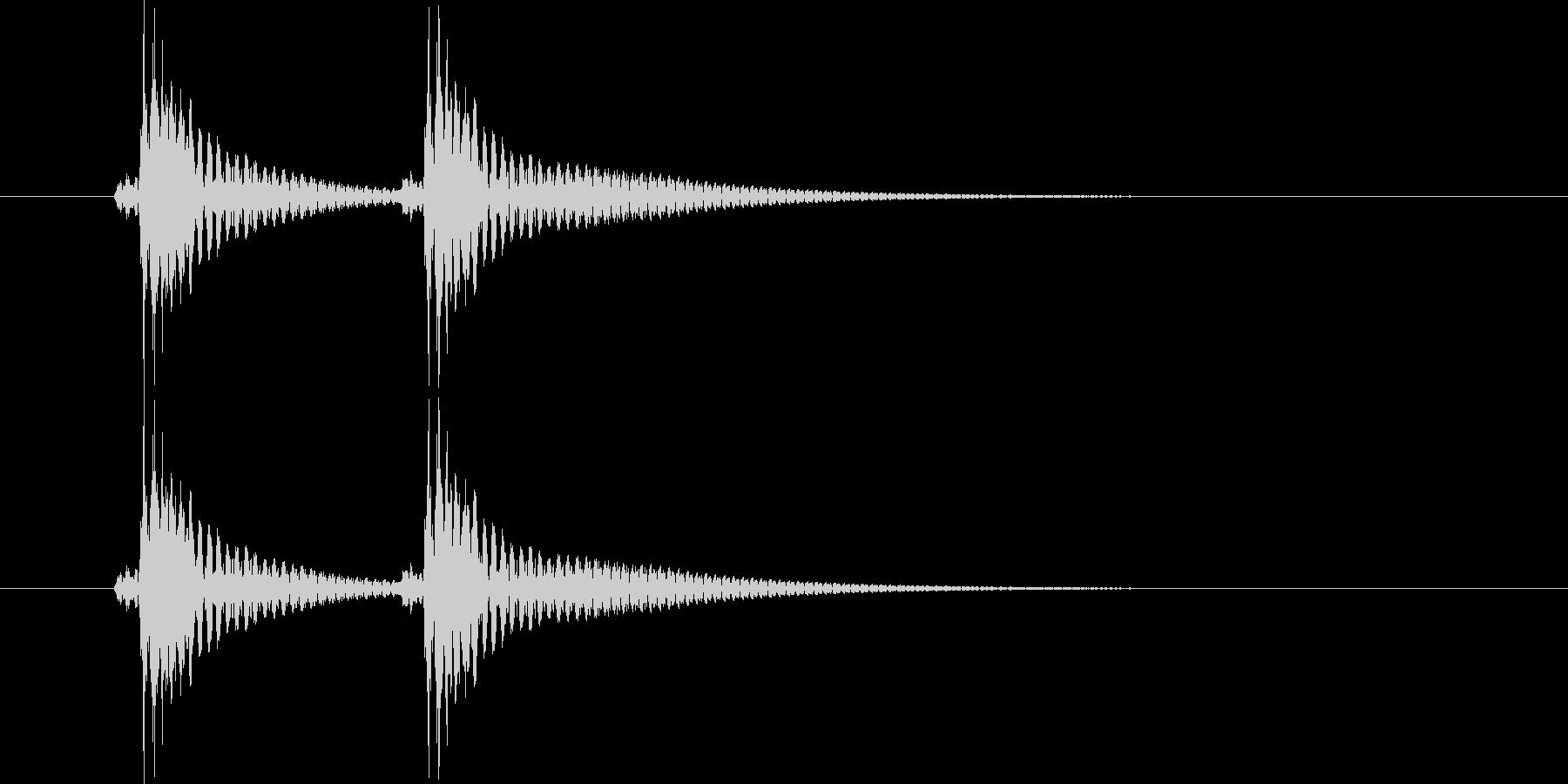 べべん(三味線)の未再生の波形