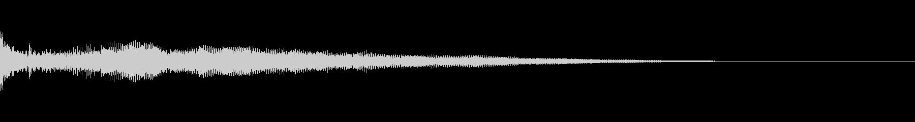 カジノ コインを選択した音、置いた時の音の未再生の波形