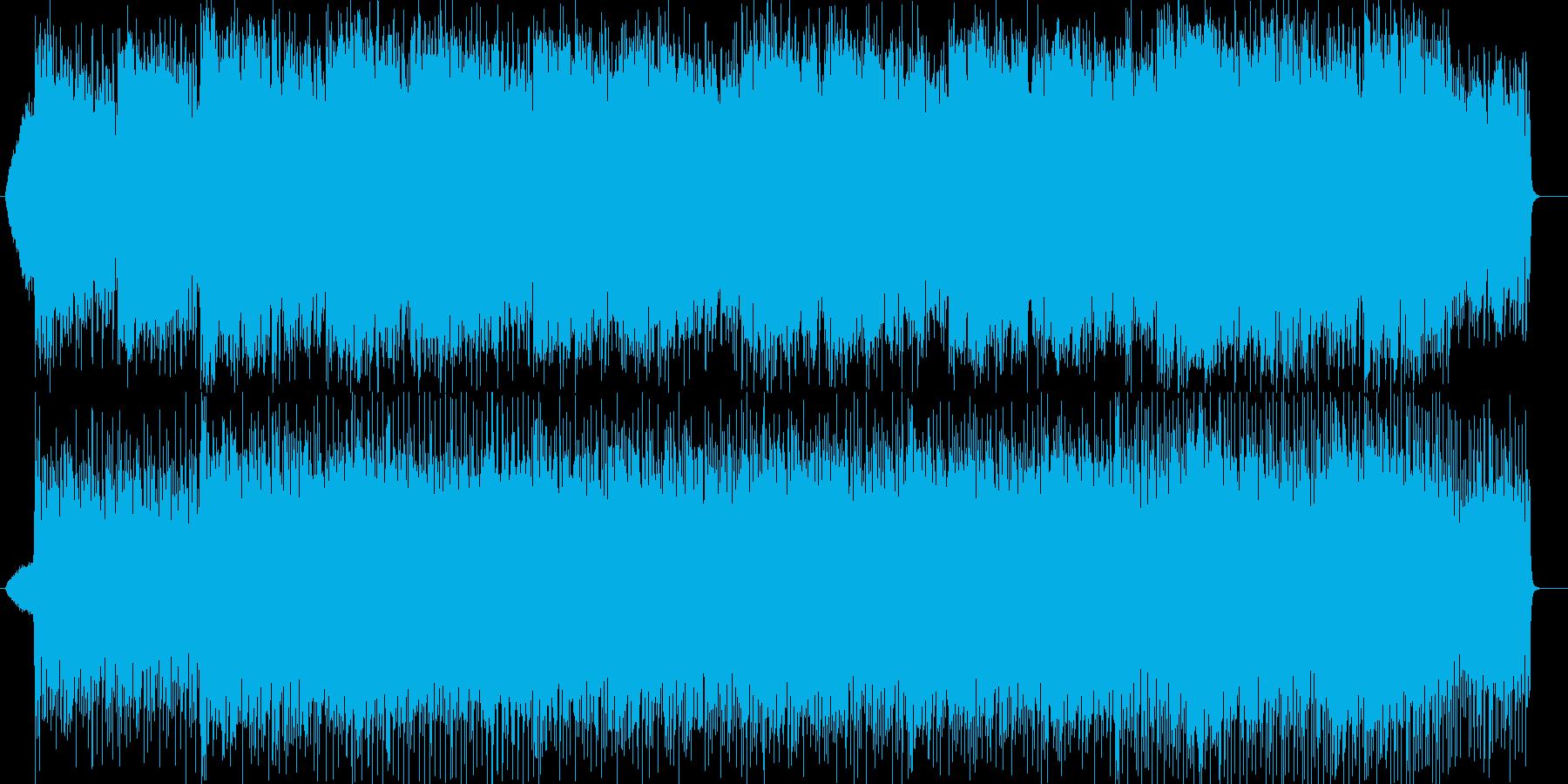 スリルを感じる緊迫感あるロックの再生済みの波形