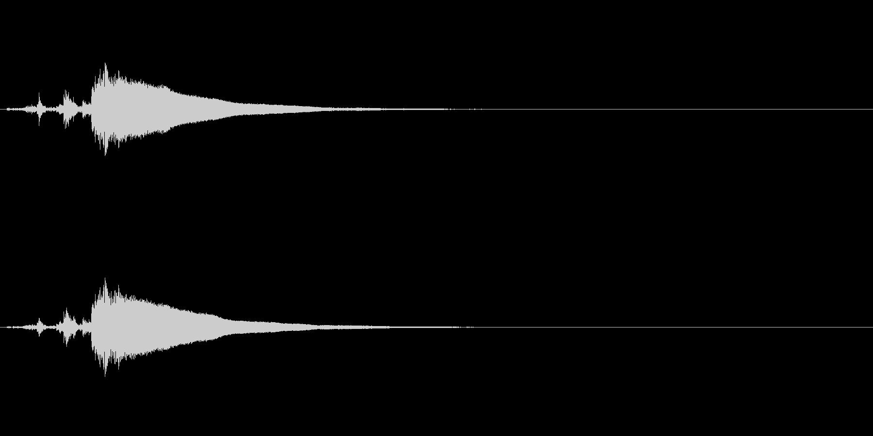 お値段発表・昔のレジ「チャキーン」の未再生の波形