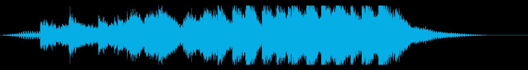物悲しいシリアスなBGMの再生済みの波形