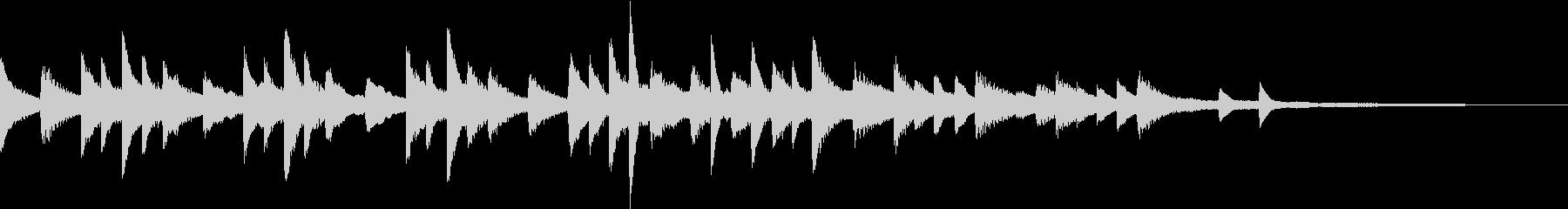 ため息をつくような切ないピアノジングルの未再生の波形
