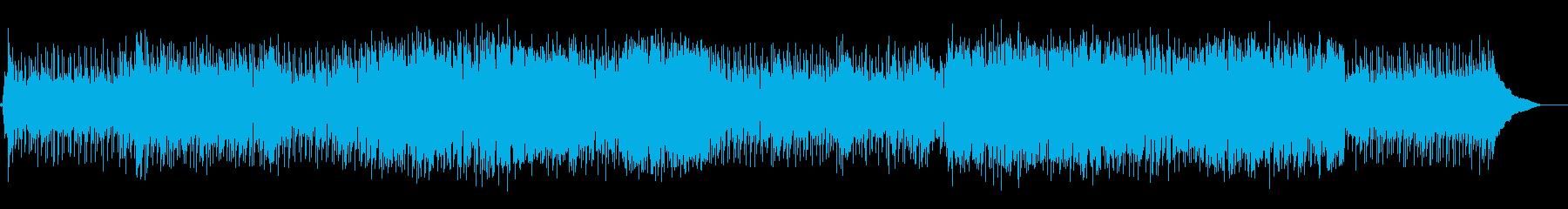 ミディアムテンポの軽快なポップソングの再生済みの波形