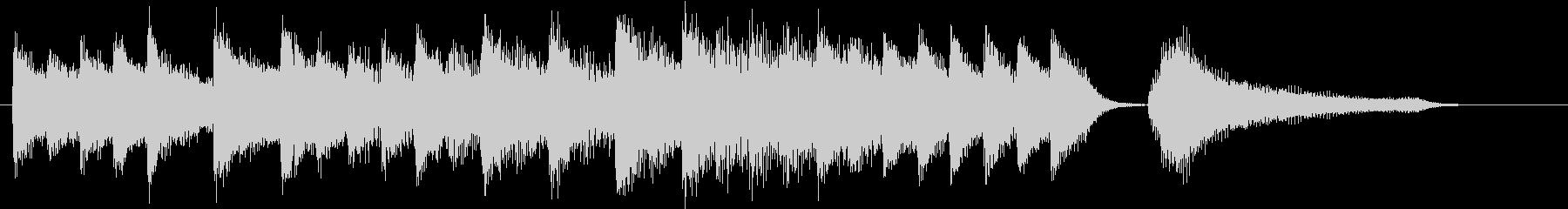 お正月・一月一日モチーフピアノジングルCの未再生の波形