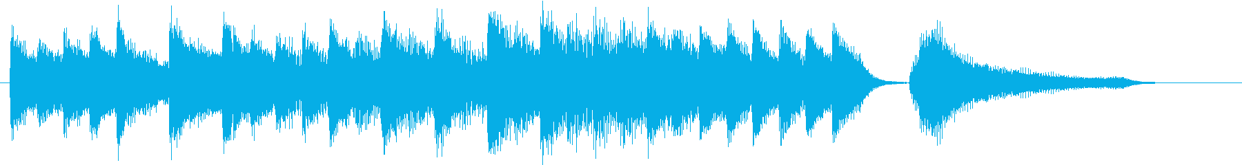 お正月・一月一日モチーフピアノジングルCの再生済みの波形
