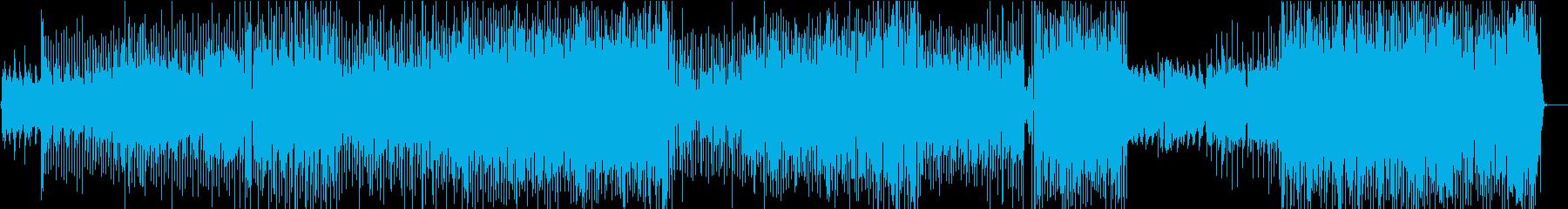 ライトなラテンのリズムのサックスメロディの再生済みの波形