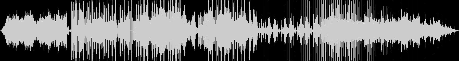 幻想的なシンセサイザーのBGMの未再生の波形