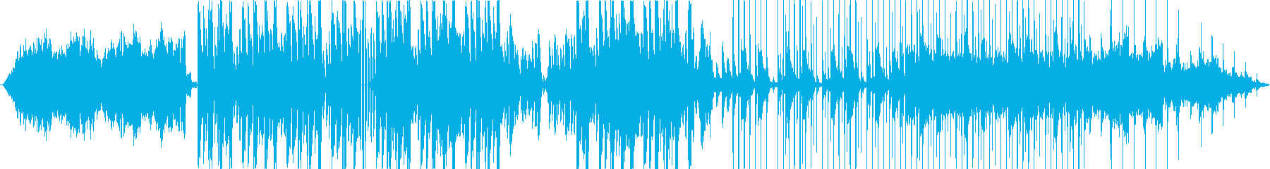 幻想的なシンセサイザーのBGMの再生済みの波形