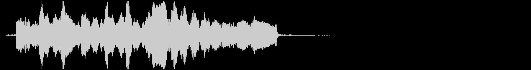 メルヘンなベルとアコーディオンのジングルの未再生の波形