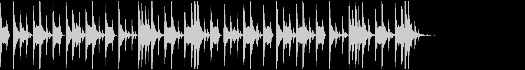 ドラムンベースのリズムパターン02の未再生の波形