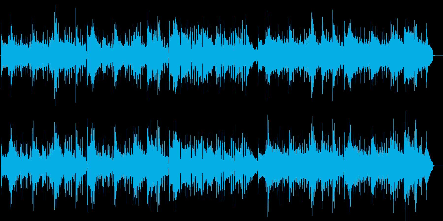 ギターのメロディとピアノののびのびした曲の再生済みの波形