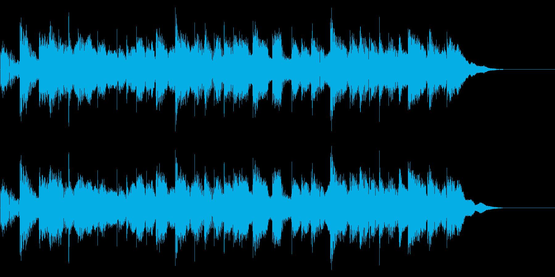 生演奏のギターを使ったポップなジングルの再生済みの波形