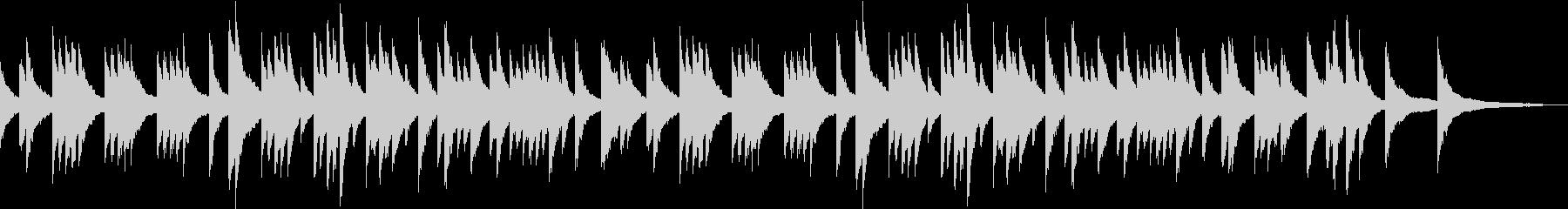 低音の響きを生かした懐しいピアノBGMの未再生の波形