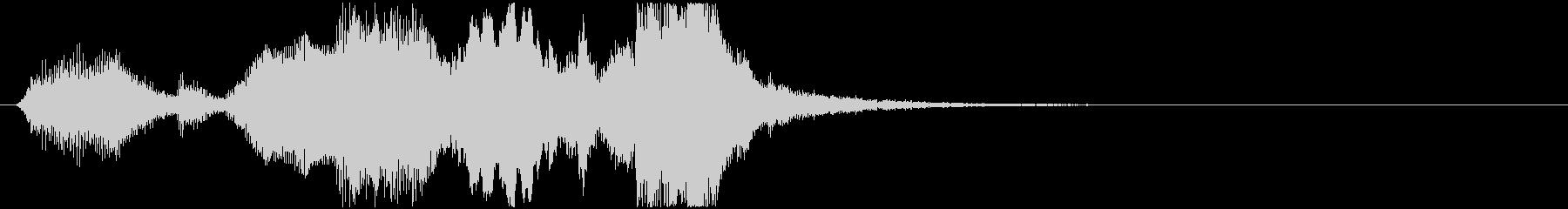 22 中程度の長さの金管ファンファーレの未再生の波形