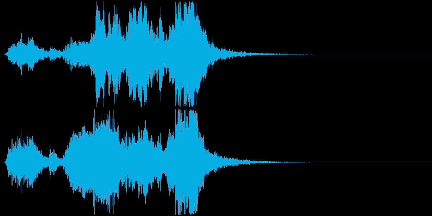 22 中程度の長さの金管ファンファーレの再生済みの波形