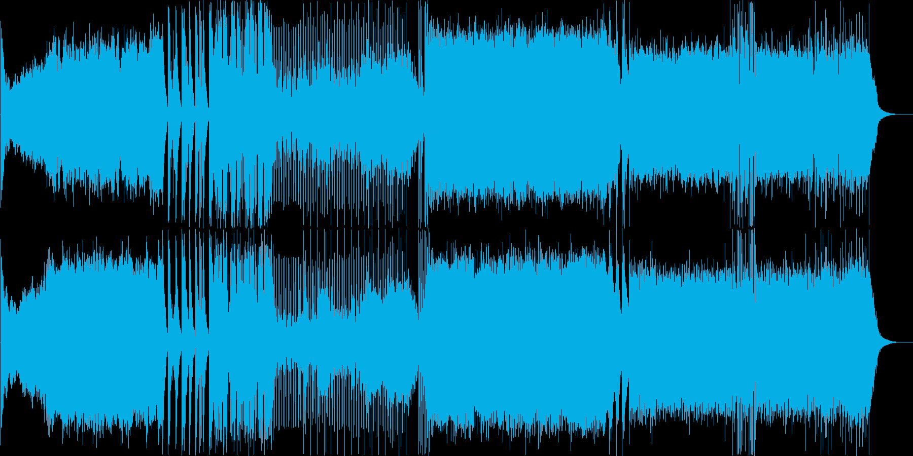 和ロック勇壮なよさこい演舞曲-三味線抜きの再生済みの波形