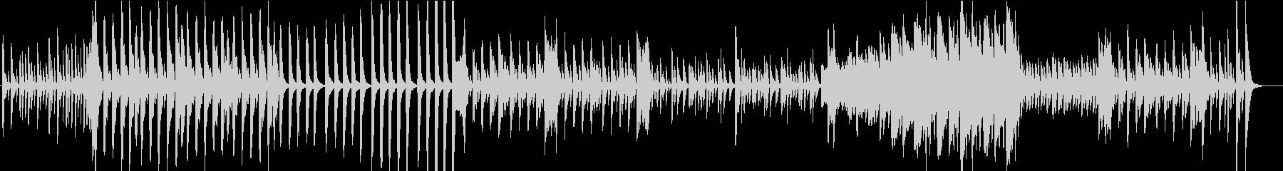 爽やかでシンプルなピアノソロ曲の未再生の波形