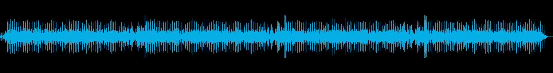 軽やかでゆったりとしたボサノヴァの再生済みの波形