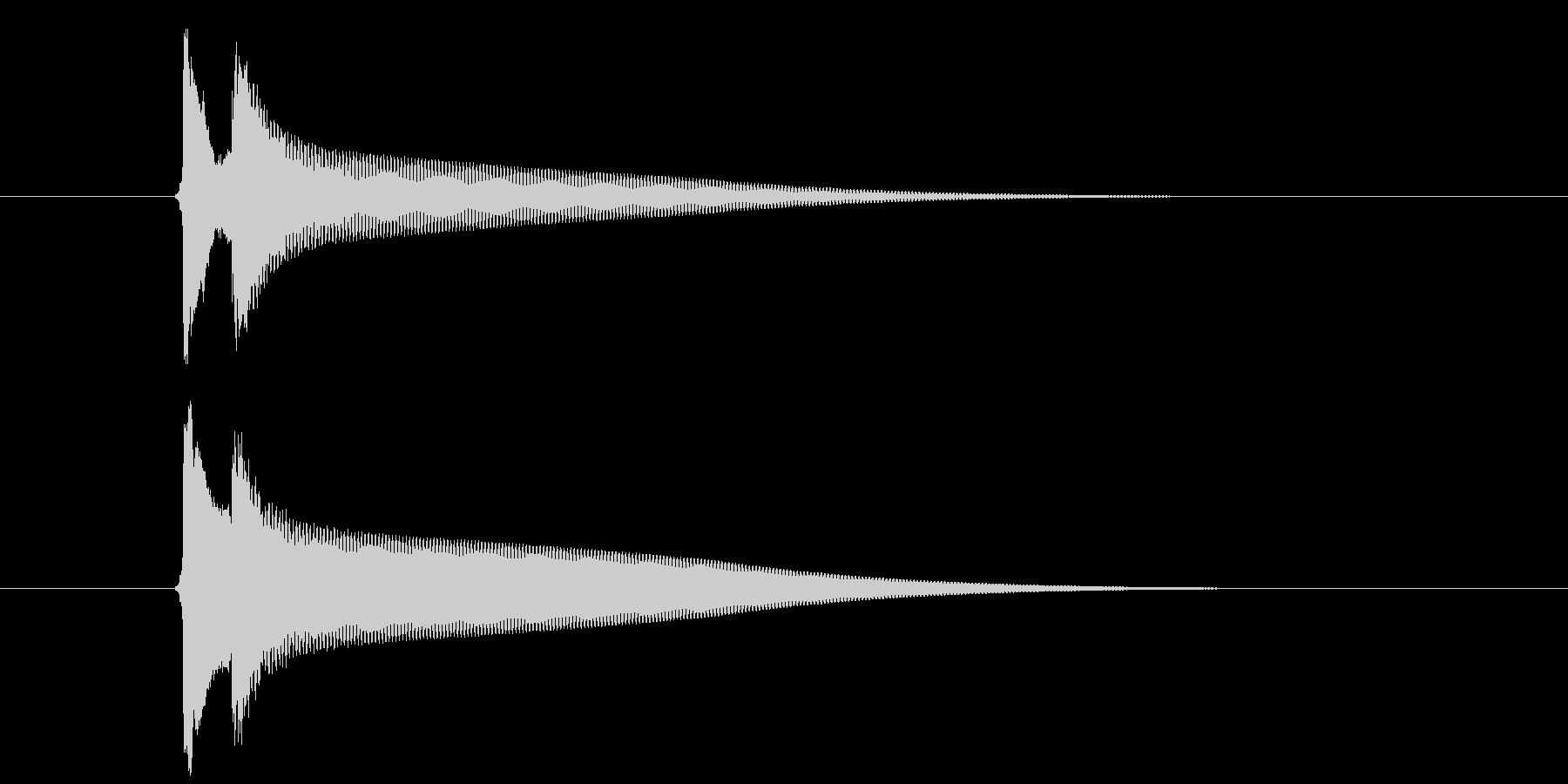 【生録音】ピンポーン(速度-早め)の未再生の波形