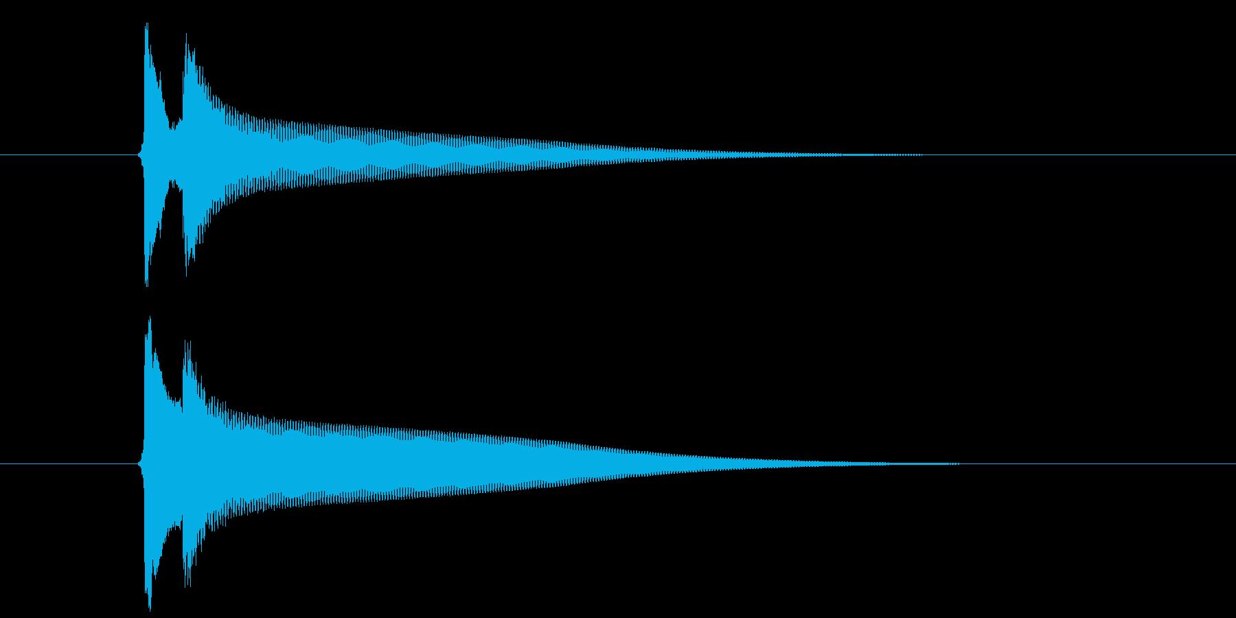 【生録音】ピンポーン(速度-早め)の再生済みの波形