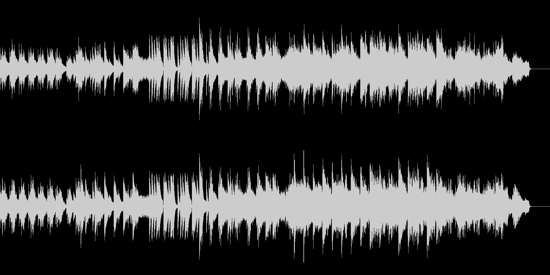 ゆっくり落ち着いたヒーリング系の曲の未再生の波形