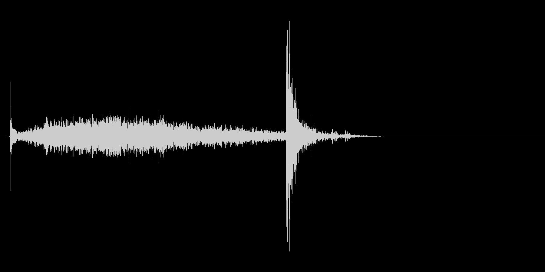 ふすまを閉める音(シャーッ→ピシャン)の未再生の波形