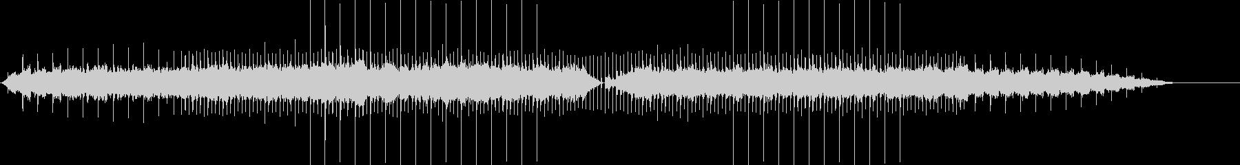 シンセによる前向きで感動的な曲の未再生の波形