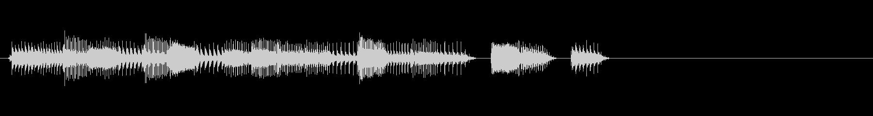 謎の宇宙人が喋る声の未再生の波形