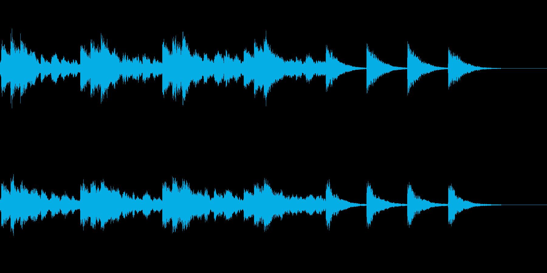 開幕ベル=チューブラベルでやや遅いの再生済みの波形